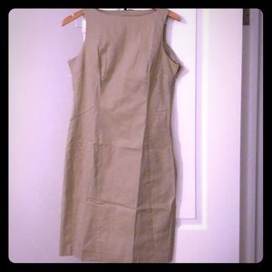 Beige color pencil dress